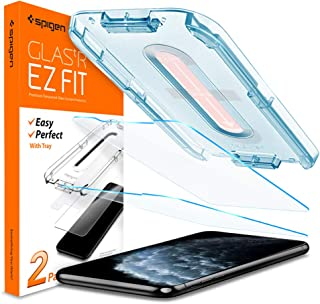 Spigen Tempered Glass Screen Protector [Glas.tR EZ Fit] Designed for iPhone 11 Pro/iPhone Xs/iPhone X [5.8 inch] [Case Friendly] - 2 Pack