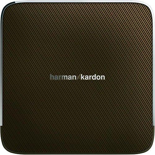 Harman/Kardon Esquire Aufladbares Tragbares Drahtloses Bluetooth und NFC Lautsprechersystem mit Freisprecheinrichtung Kompatibel mit Smartphones, Tablets und MP3 Geräten - Braun