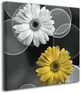Best black white and yellow wall art Reviews