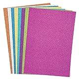 Baker Ross AC373 Tarjeta con Purpurina Multicolor A4 (paquete de 16, 250 g) papel de color para decorar para nios