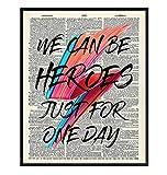 David Bowie Lyrics Upcycled Dictionary Wall Art Decor Print - 8x10 Home...