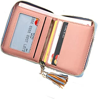 GzxtLTX RFID Blocking Leather Wallet for Women,Excellent Women's Genuine Leather Credit Card Holder