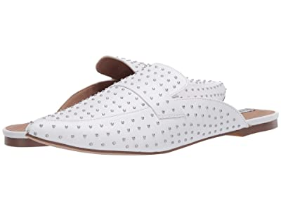 Steve Madden Flavor-S Flat Mule (White Leather) Women