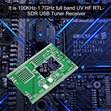 100KHz-1.7GHz Full-Band Receiver Software Radio UV HF FM AM RTL-SDR USB Tuner Receiver RTL2832U+R820T + U/V Antenna DIY Kits-Black