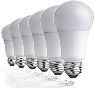 TCP LA950KND6 60 Watt Equivalent LED Light Bulbs Energy Efficient (9W)   Non-Dimmable A19 Shape E26 Medium Base, Pack of 6 Daylight, 6 Lamps