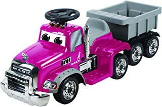 Wonderlanes 6V Deluxe Ride on Mack Truck Trailer, Pink