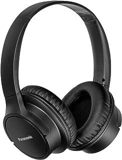 Panasonic RB-HF520BPUK, audifonos Bluetooth Tipo Diadema (on-Ear), Color Negro, Funcion Manos Libres/microfono, 50 Horas de reproduccion Continua, Driver 40mm, ultralivianos
