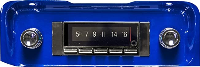 1964-1966 Chevrolet or GMC Pickup Truck 300 watt Custom Autosound USA-740 AM FM Car Stereo/Radio with built-in Bluetooth, AUX Inputs, Color Change LCD Digital Display