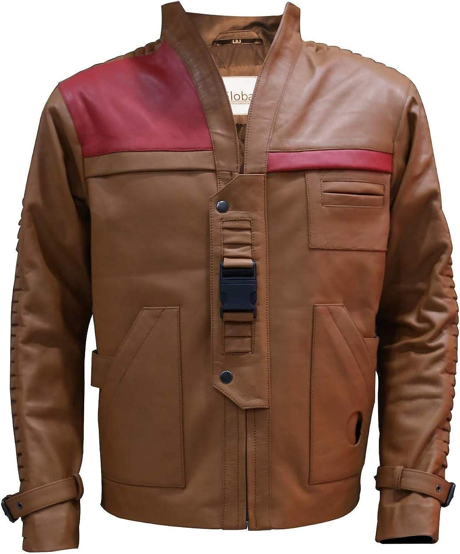 T&I Texas Poe Dameron Star Wars Finn Mens Tan Biker Leather Jacket