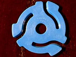 (20 Pack) Blue Plastic 45 RPM 7 Inch Vinyl Record Adaptor - 7