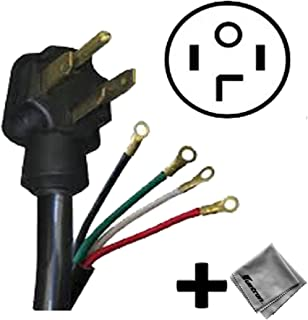 Replacement Cord Cable for Amana - 6.5 Cu. Ft. 11-Cycle Electric Dryer (NED4655EW) - 4 ft