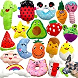 Jalousie 18 Pack Dog Squeaky Toys Cute Stuffed Pet Plush Toys Puppy Chew Toys for Small Medium Dog Puppy Pets - Bulk Dog Squeaky Toys