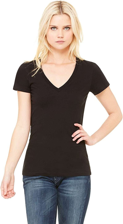 Bella B6035 Canvas Ladies' Jersey Short-Sleeve Deep V-Neck T-Shirt