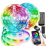 Led Lights for Bedroom 100ft, LEHOU APP Control Music Sync Color Changing Led Strip Lights with Remote, 24V LED Tape Lights for Room Kitchen Home Decoration (2X50ft)