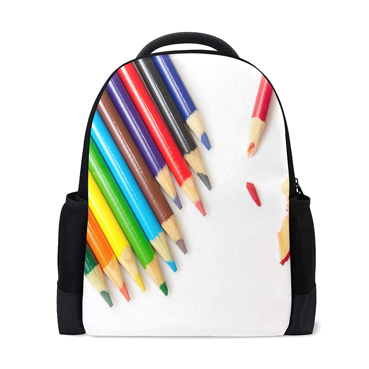 Backpack Colored Pencils Personalized Shoulders Bag Classic Lightweight Daypack for Men/Women