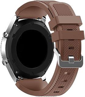 Sport Silicone Bands Straps Bracelet Watch Size 22mm for Huawei Watch GT1, Huawei Watch GT2 46mm, Galaxy S4 46mm, Samsung ...
