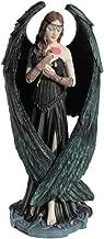 Nemesis Now Ltd Anne Stokes ANGEL ROSE Statue, Fantasy Art Figure 8 1/2-in Pink, Blue, Green, Black, Beige, Brown