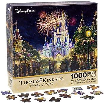 Walt Disney World Thomas Kinkade Main Street U.S.A Fireworks 27 x20  1000 Piece Puzzle