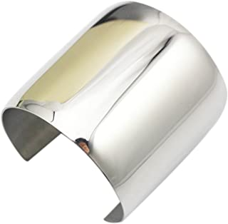Stainless Steel Smooth Polished Open Cuff Bangle Bracelet for Women Lady Girls Gift