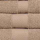 Set di 4 Asciugamani da Bagno in 100/% Cotone Pettinato 71,1 x 139,7 cm CASA COPENHAGEN Edition 2019 575 g//m/²