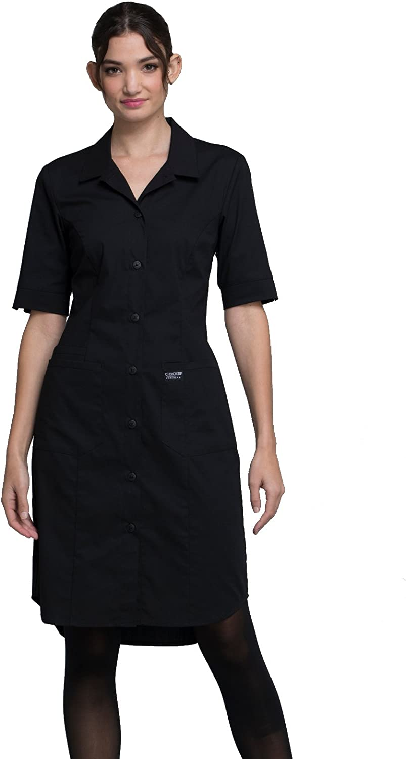 Cherokee WW Professionals WW500 Women's Button Front Solid Scrub Dress