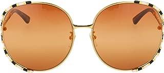 Luxury Fashion | Gucci Womens GG0595S007 Gold Sunglasses | Fall Winter 19