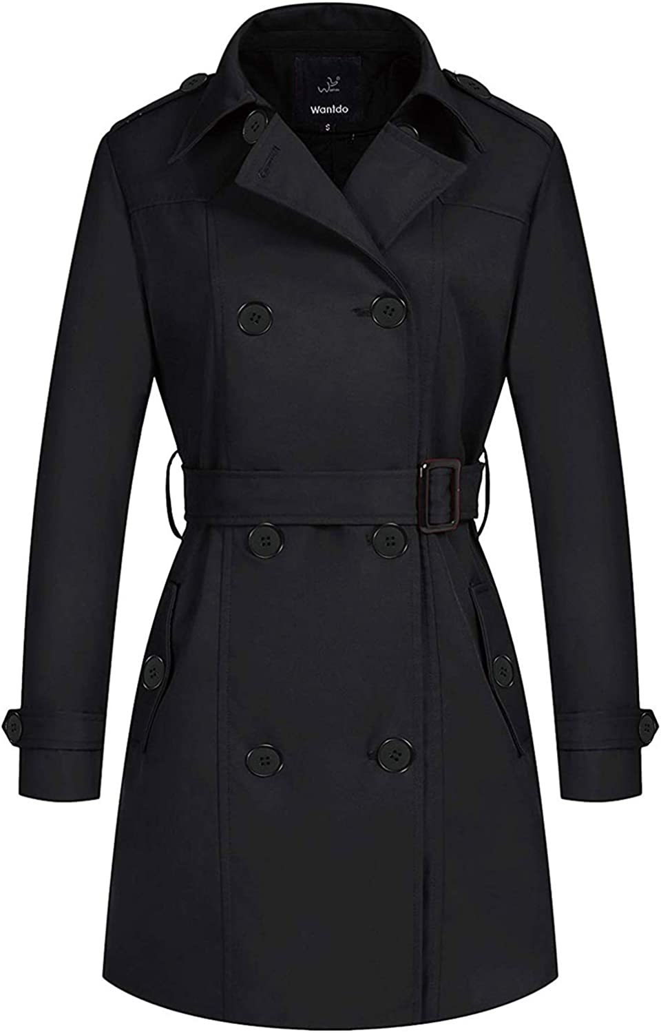 Wantdo Women's Online limited product Waterproof Free Shipping New Double-Breasted Classic Coat La Trench