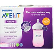 Avent 3-Pack Natural Wide-Neck Bottles - pink, one size