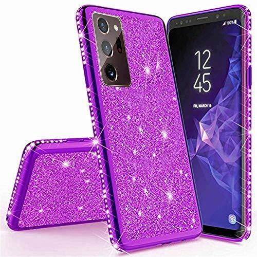 Miagon für Samsung Galaxy Note 20 Ultra Glitzer Hülle,Bling Überzug Glänzend Strass Diamant Weich TPU Silikon Handy Hülle Etui Tasche Schutzhülle Case Cover