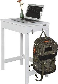 SoBuy White Computer Desk, Study Desk, Small PC Desk, Laptop Desk, FWT43-W