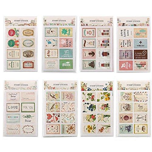 Holo Cute Notizbuch Tagebuch Briefmarke Selbstklebend Aufkleber Dekorativ Studenten Briefpapier Farbe zufällig