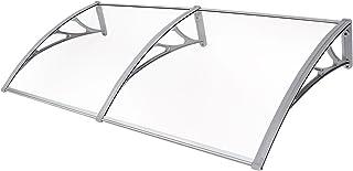 comprar comparacion SONGMICS Marquesina para Puertas Ventanas Toldo Cubierta de policarbonato de 3 mm Transparente 155 x 75 cm GVH158