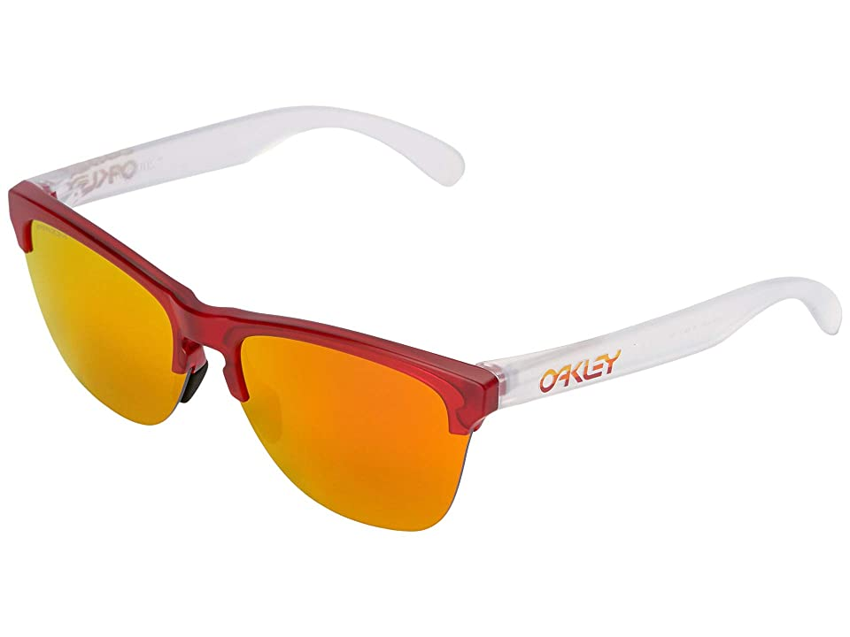 Oakley Frogskins Lite (Matte Trans Red w/ Prizm Ruby) Athletic Performance Sport Sunglasses