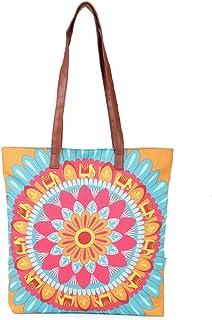 Blooming Mandala Yellow Tote Bag