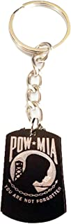 United States of America POW MIA NOT Forgotten Prisoners of WAR Logo - Metal Ring Key Chain Keychain