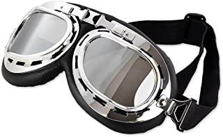 DS. DISTINCTIVE STYLE Steampunk Aviator Pilot Style Motorcycle Cruiser Scooter Goggles with Smoke Lenses, Cool Motorcycle ...