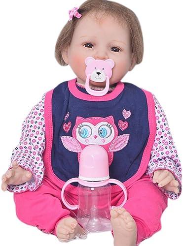 Candyana Reborn Doll 55cm Simulation Baby Gelb Hair Cute Hairpin Birthday Gift Girl Dolls