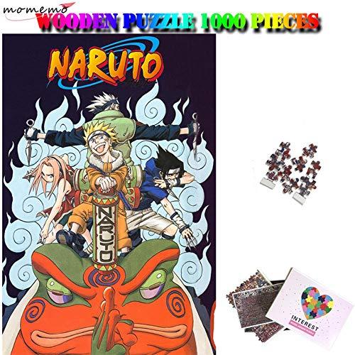 JJZZ Puzzle de Naruto Puzzle de 1000 Piezas Puzzle de Madera para Adultos Puzzle de séptimo Grado Kakashi Naruto Sasuke Sakura Puzzle Regalos de Juguete