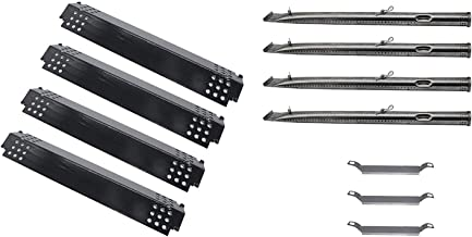 DcYourHome 3 Accessories Combination - Replacement for Gas Grill Model Charboil 463215512,463215713 etc, Include (4-Pack) Porcelain Heat Plate & (4-Pack) Stainless Steel Pipe Burner,3-Pack Cross-Over