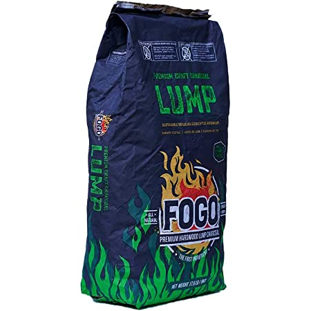 Fogo FG-CH-BRA-17 All Natural Restaurant Quality Brazilian Eucalyptus Blend Hardwood Lump Charcoal for Grilling and Smoking, 17.6 Pounds