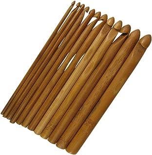 EXCEART Aiguilles à tricoter en bois avec manche en bambou naturel pour crochet, crochet, artisanat, crochet, dentelle