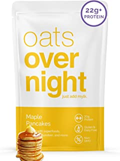 Oats Overnight - Maple Pancakes (8 Pack) Dairy Free, High Protein, Low Sugar Breakfast - Gluten Free, High Fiber, Non GMO...
