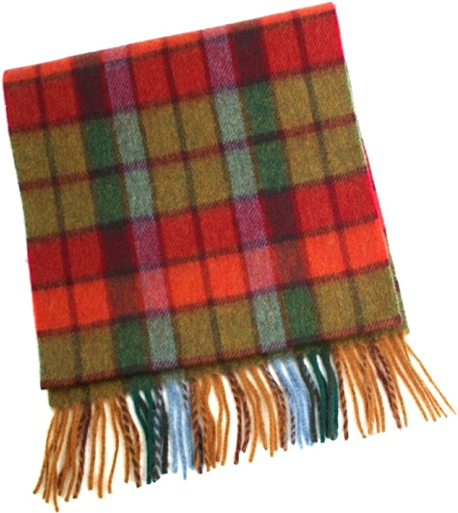 100% Lambswool Scarf. 150cm x 30cm. Made in Ireland. Autumnal Browns