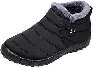 Hunzed Men Winter Waterproof Keep Warm Shoes Velvet Boot Flat Snow Boots
