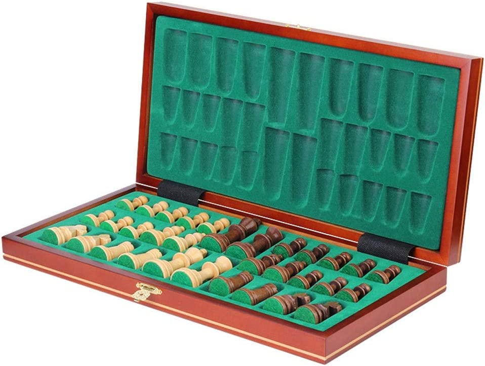 Chess Set Max 86% OFF Magnetic sale Wooden Large Board Folding