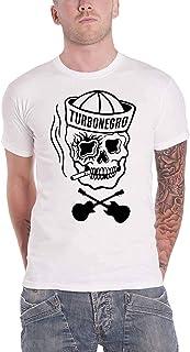 Turbonegro T Shirt Sailor Skull N Bones Band Logo 新しい 公式 メンズ