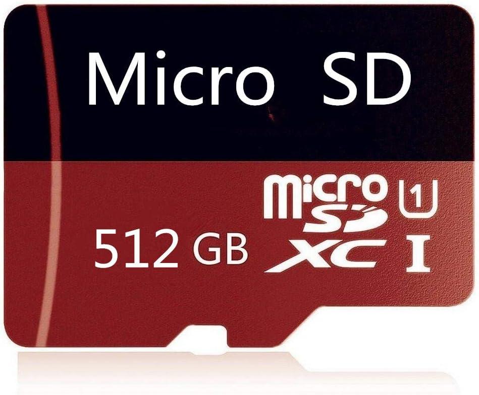 Micro SD Card 512GB High Speed Class 10 Micro SD SDXC Card with Adapter (512GB-B)