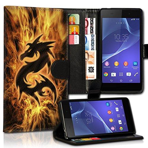 wicostar Wallet Book Style Flip Handy Tasche Hülle Schutz Hülle Schale Motiv Etui für Huawei Ascend G525 - Variante UMV31 Design4