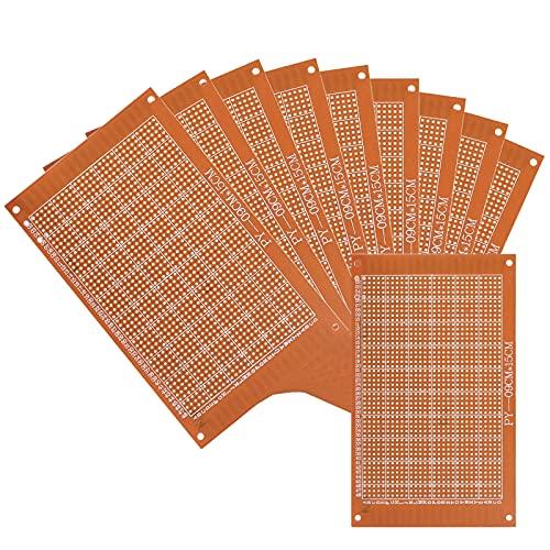 ansd 10PCS Placa de Circuito Universal,Placa de Prototipos PCB,Único prototipo de Lado Universal PCB para Accesorio de Proyectos Electrónicos