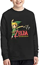 YouNood Youth Junior Particular The Legend of Zelda Wind Waker HD Long Sleeve Tshirt Black